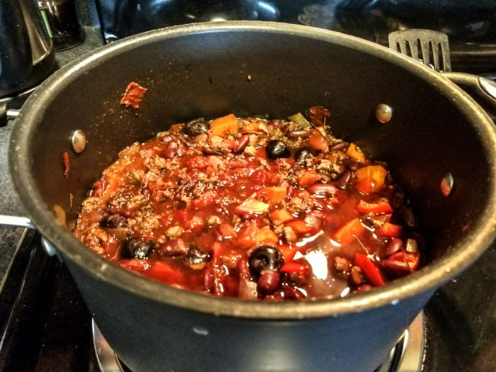 A big old pot of chili