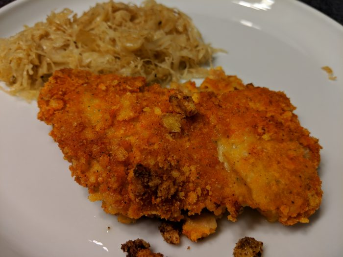 cheeto crusted pork chops