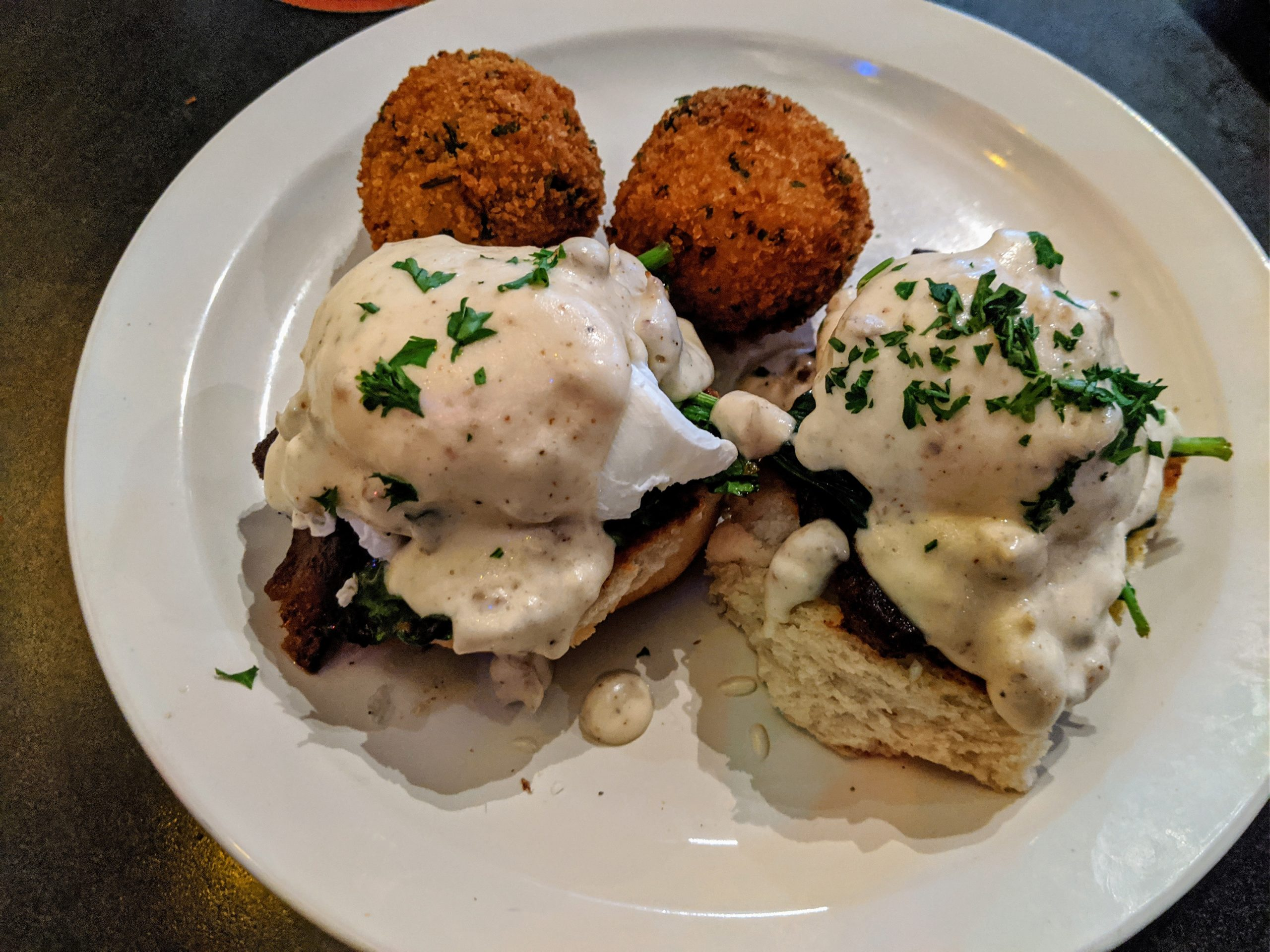 A southern style eggs benedict